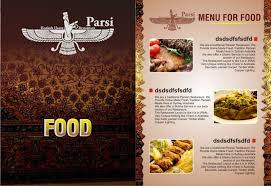 traditional professional menu design for parsi by yadavsushil