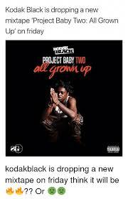 Grown Baby Meme - kodak black is dropping a nevw mixtape project baby two all grown