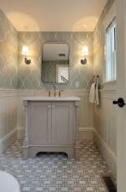 Bathroom Wallpaper Ideas Minimalist Grey Geometric Bathroom Wallpaper Ideas Home Inspiring