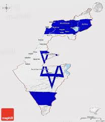 Map Of Isreal Flag Panoramic Map Of Israel