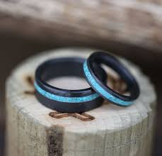 Black Wedding Rings by Best 25 Turquoise Wedding Rings Ideas On Pinterest Turquoise
