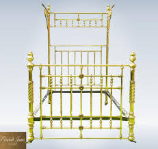genuine victorian brass canopy half tester double bed half genuine victorian brass canopy half tester double bed