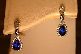 teardrop diamond earrings diamond and sapphire teardrop earrings engagement rings