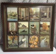 home interior prints home interior b mitchell fall harvest vintage wood framed print