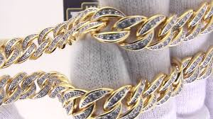 chain necklace hip hop images Gold cuban chain iced out curb necklace hip hop bling jpg