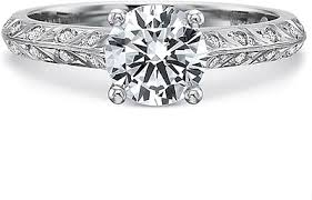 precision set rings precision set leaf pattern diamond engagement ring 7261