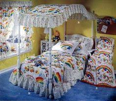 Rainbow Bedroom Decor 80s Rainbow Sheet Set I Had These Growing Up In The 70s And