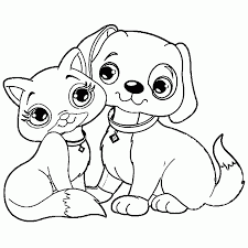 coloring pages cute puppy dog sheet to print and color cutest