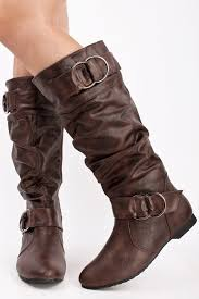 womens leather boots flat brown leather boots footwearpedia