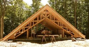 cordwood cabin with 24 thick walls makes it energy efficient and