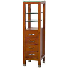 Linen Tower Cabinets Bathroom - wyndham collection tavello 16 1 4 in w x 59 3 4 in h x 16 in d