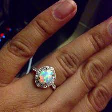 turquoise opal engagement rings beautiful opal ring weddingbee
