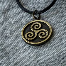 handmade necklace pendants images Triskelion necklace triskele pendant brass by suvali on zibbet jpg