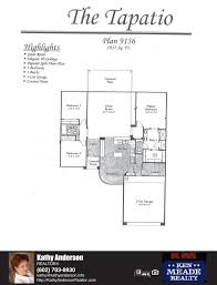 traditions tapatio floor plan model home plans floorplans models