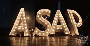 lighted marquee letter tutorial