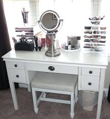 Ikea Micke Desk Makeup Vanity Table Organization Ideas Best 25 Makeup Vanity