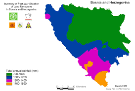 Rainfall Totals Map Gateway To Land And Water Information Bosnia And Herzegovina Map