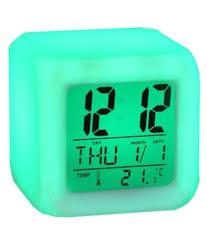 tuelip digital plastic square table clock pack of 1 buy tuelip