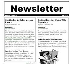 templates for word newsletters free newsletter templates for word daway dabrowa co