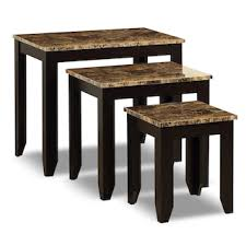 3 piece nesting tables roma 3 piece nesting table package the brick