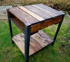 Wood End Tables Recycled Wooden Pallet End Tables Recycled Things