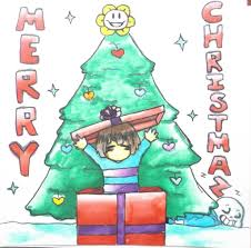 frisk wishes you all a merry by richimii on deviantart