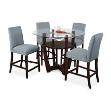 aqua dining room alcove counter height dinette with 4 side chairs aqua value
