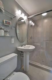 Bathroom Designs With Pedestal Sinks Contemporary 3 4 Bathroom With High Ceiling U0026 Pedestal Sink In Bay