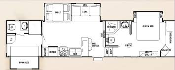 Cougar Trailers Floor Plans Rv With 2 Bedrooms Bathrooms Bedroom 5th Wheel Floor Plans Front