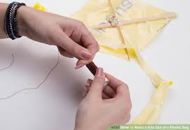 how to make a kite out of a plastic bag 9 steps with pictures