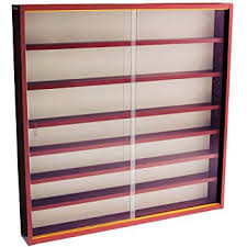 Oak Wall Mounted Display Cabinet Collectors Wall Display Cabinet With Four Glass Shelves Oak