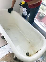 how to refinish a nasty old clawfoot tub tubs bath and bath ideas