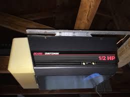 craftsman garage door opener 1 2 hp older model youtube