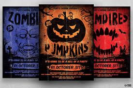 halloween horror nights ticket halloween flyer template v 4 tds