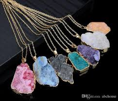 crystal quartz stone necklace images Wholesale natural crystal quartz healing point chakra bead jpg