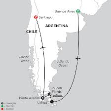 Iso Map Chilean Fjords Vacations From Monograms