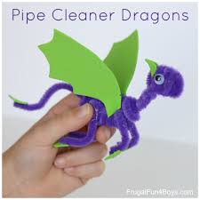 pipe cleaner dragons craft for kids pipes dragons and craft
