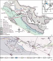 Himalayan Mountains Map A Geological And Structural Map Of The Garhwal U2013kumaun Figure