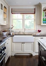 Hardwood Floors With White Cabinets Antique White Cabinets Kitchen Contemporary With Window Trim