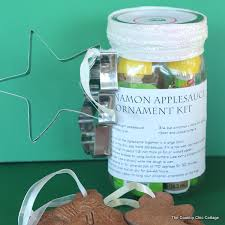 cinnamon applesauce ornament kit in a jar the country chic cottage