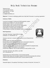 Resume Sample Help Desk Support by Resume Samples For Help Desk Technician