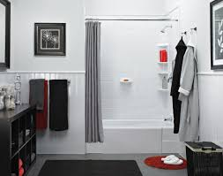 Wainscoting Bathroom Ideas by White Marble Bath Fitter With Wainscoting Happy Bathrooms
