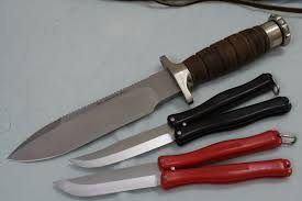Becker Kitchen Knives Vintage Hackman Finland Survival Butterfly Knives Are Not