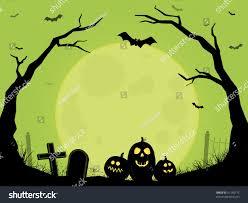 green spooky halloween background moon rising stock vector