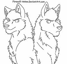 anime wolf coloring pages encourage color