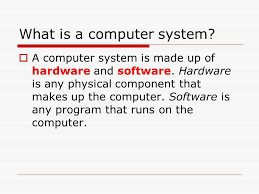 computing system lesson objective understand what is meant by a