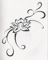 tribal lotus flower design