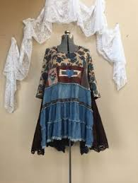 Shabby Chic Tops by Custom Order Example Upcycled Clothing Refashioned Denim Skirt