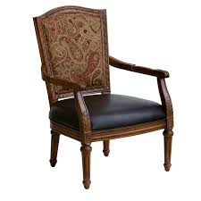 Brown Arm Chairs Design Ideas Brown Wooden Carving Chair With Black Leather Seat And Brown