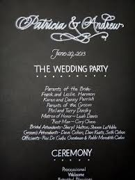 wedding program board a place for lettering wedding program board i m looking at